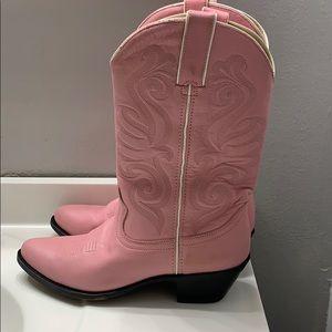 Pink cowgirl Durango boots hardly worn